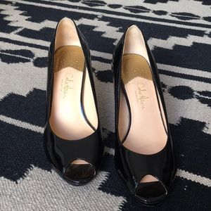 Cole Haan Nike Air Open Toe Patent Pump